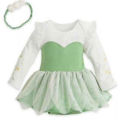 Disney Store New Baby TinkerBell Costume 9-12ms Dress Cute 4 Pictures,Vacation ()