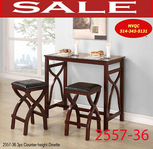 counter height dinettes & kitchen sets, tables, arm chaise,2557