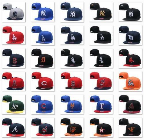 3D Embroidered MLB Football Team Logo Hat Flat Brim Snapback Men Baseball Cap
