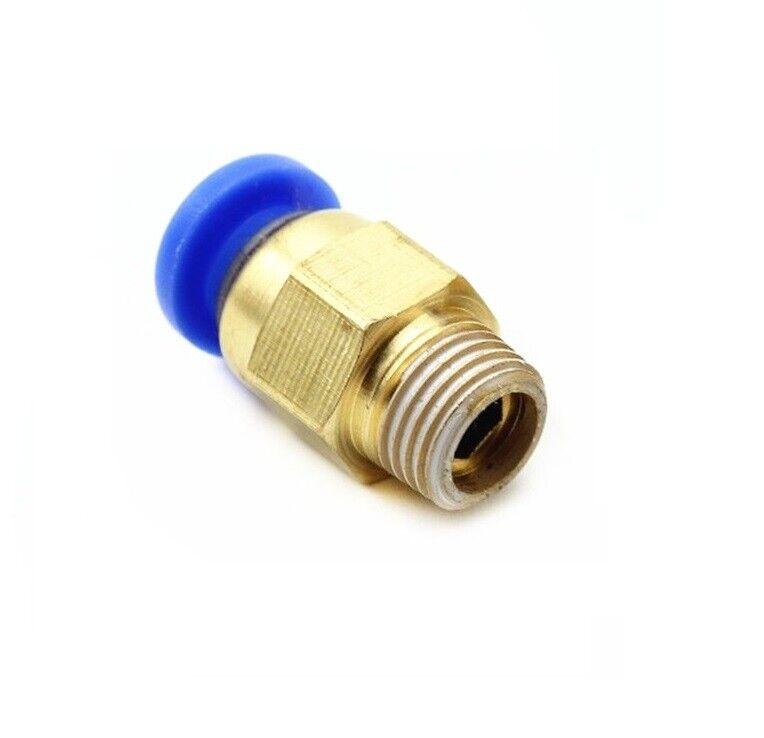 Mini L-Steckverschraubung Außengewinde Pneumatik SteckverbinderSchlauchverbinder
