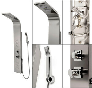deluxe Stainless steel massage jets & pressure balance control shower panel