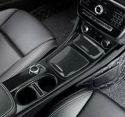 3x Passend zu Mercedes Benz A GLA CLA Mittelkonsole Carbon Blende Zierrahmen