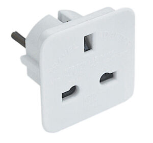 UK To EU Euro Europe European Travel Adaptor Plug 2 Pin Adapter *CE Approved*