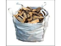 Bulk bag kiln dried birch hardwood log firewood only £75 each call 0161 962 9127 free local delivery