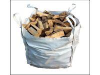 Builders bulk bag kiln dried oak hardwood firewood only £85 inc free local delivery 0161 962 9127