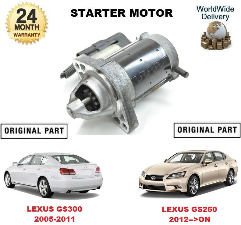 FOR LEXUS GS300 2005-2011 GS250 2012-->ON NEW ORIGINAL STARTER MOTOR