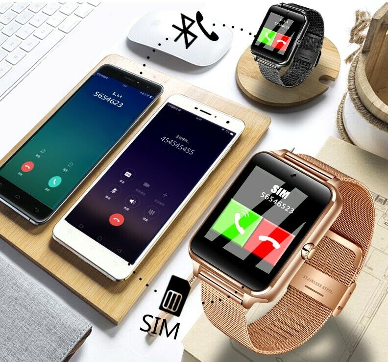 Smartwatch Samsung iPhone Bluetooth Handy Armbanduhr SIM Kamera Android iOS ♥