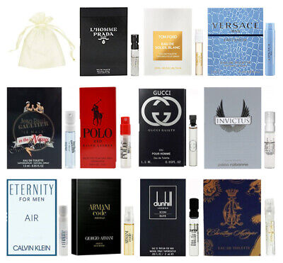 11 Men Cologne Sample Vial Polo Red Gucci Giorgio Armani Tom Ford Travel Lot New