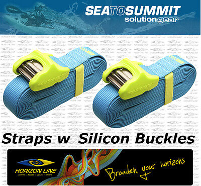 Silicon Coated Buckle Tie Down Cam Straps for Canoe kayak, surf board roof -