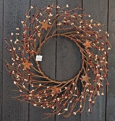 Pip Berry W/ Rusty Tin Stars Wreath 14