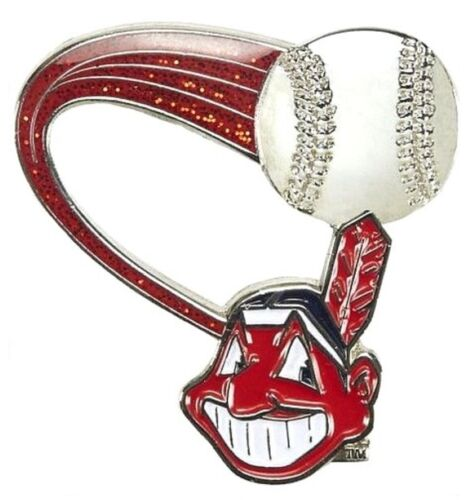 Cleveland Indians Mlb Baseball Glitter Trail Sports Pin Licensed By Aminco