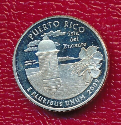 2009-S WASHINGTON SILVER QUARTER ~PUERTO RICO~ **GEM PROOF** FREE SHIPPING!!