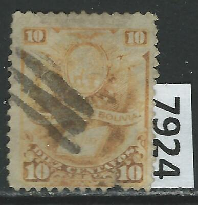 """#7924 BOLIVIA Sc#21 Used Arms and """"The Law"""" 1878"""