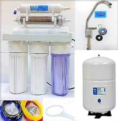 RO/DI Dual Outlet Reverse Osmosis Water Filter Systems - 6 G Tank -150 GPD