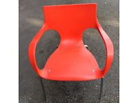6 x Red Restaurant Outdoor Chairs for Sale