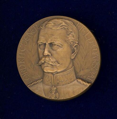 Lord Kitchener Memorial Medal. Paris Mint, 1918.  46 mm (1 3/4 inch) bronze