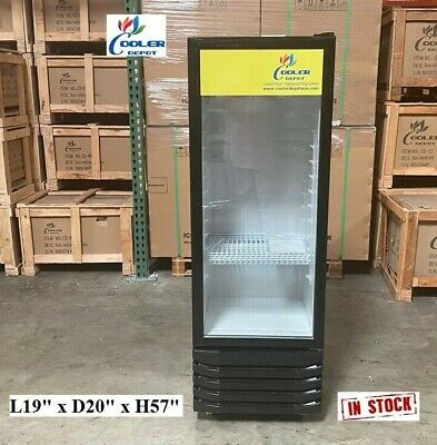 New Glass Door Refrigerator Cooler Beverage Merchandiser Nsf 19 X 20 X 57