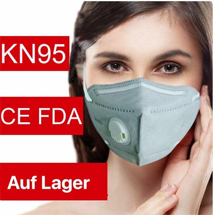 6-Lagige Atemschutzmaske KN95 entspricht FFP2 Mundschutz mit Ventil Lagerware
