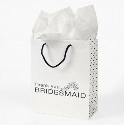 144 THANK YOU Gift Bags Bridesmaid White Wedding Bridal Party Bulk Wholesale - Bridesmaid Gift Bags