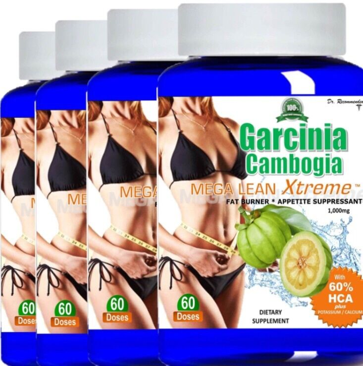 4 Pure Garcinia Cambogia Extract 100% HCA Diet Weight Loss 1