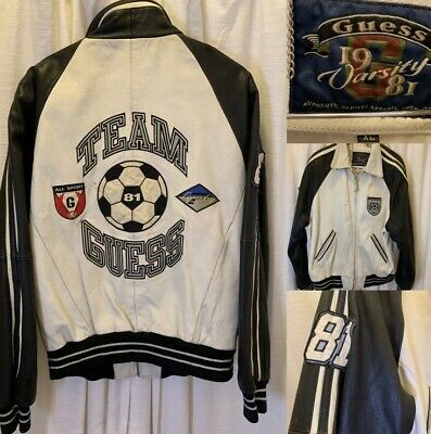 Vintage Guess Jeans USA Mens Genuine Leather Jacket  Size XL