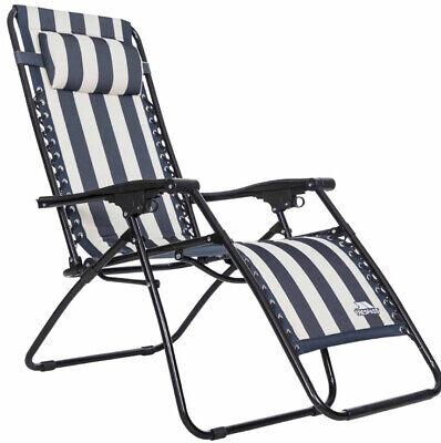 Trespass Glentilt Reclining Navy & White Striped Sun Lounger Brand New Unused