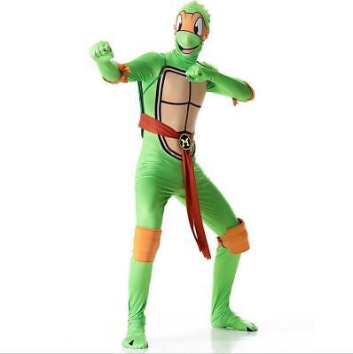 Mens Teenage Mutant Ninja Turtles Costume TMNT Superhero Adult Fancy Dress - Female Tmnt Costume
