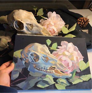 Looking for real or realistic animal skulls for painting