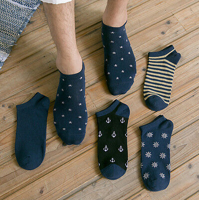 5 10 Pairs Mens No Show Cotton Casual Crew Ankle Low Cut Socks Comfy