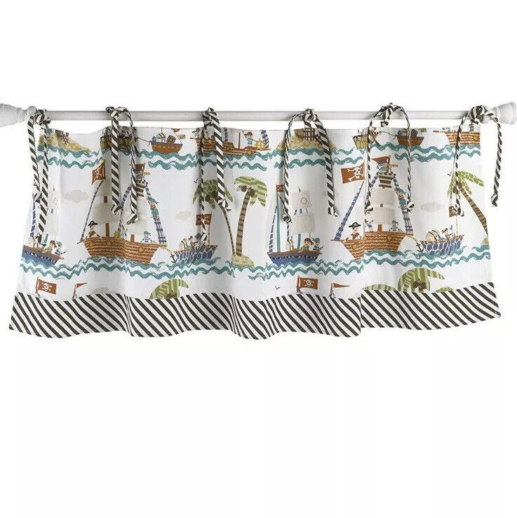Cotton Tale Aye Matie Curtain Valance Pirate Ships