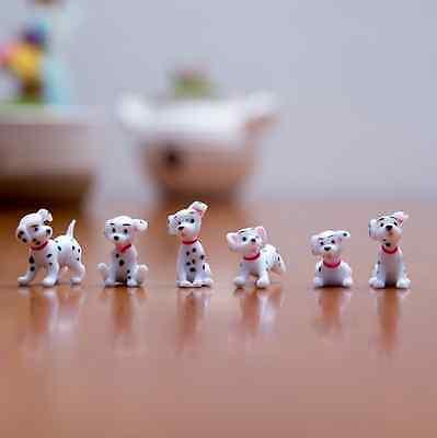 Free shipping 6pcs/set Lovely dalmatians  figure Mini series toys About 2.5cm