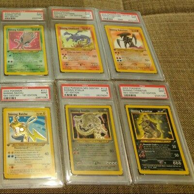 OLD Vintage Pokemon 3 Cards 1ST EDITION Lot Rare Holo - Shining? WOTC 973/1000, used for sale  Marquette