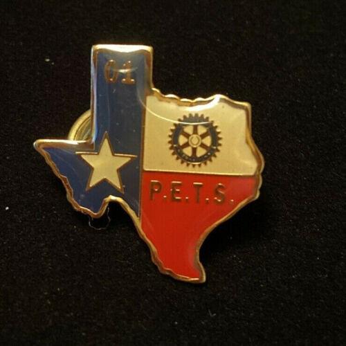 Rotary International Pin PETS 01 TEXAS - President Elect Training Seminar