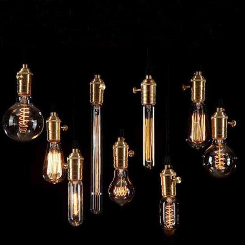 Vintage Squirrel Cage Antique Style Bulbs Edison