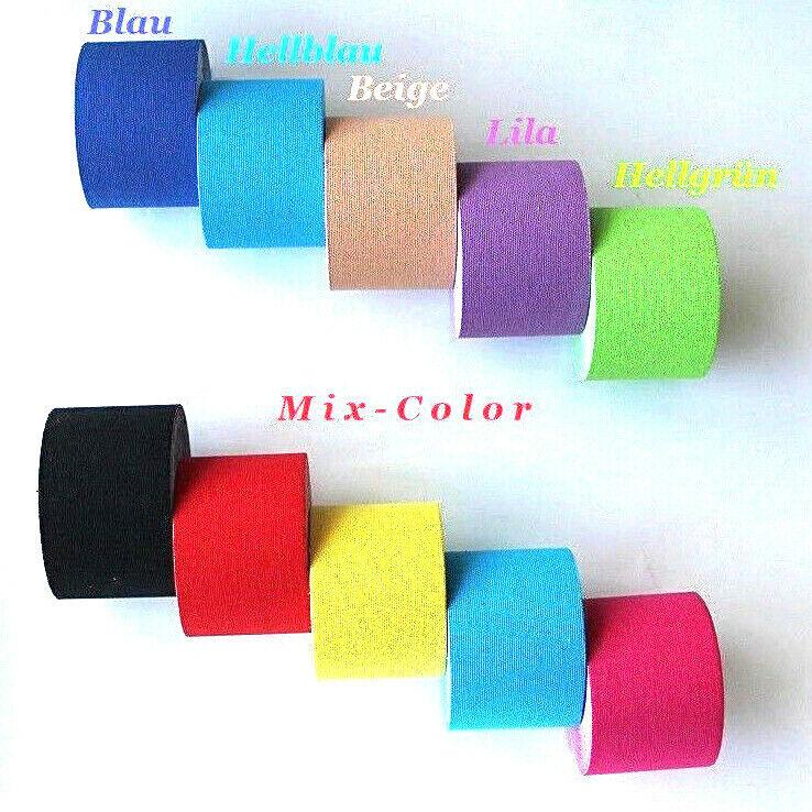 5 x selbsthaftende Bandagen Flexbandage Fixierband Kinesiologie Tape 5 cm x 5 m