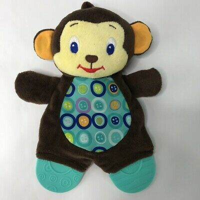 BRIGHT STARTS Baby Monkey Teether Plush Stuffed Animal Toy