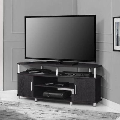 (Corner TV Stand Flat Screen Entertainment Center Media Cabinet Console Espresso)
