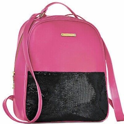 Juicy Couture Backpack Spring Hot Pink Black SEQUINS TRAVEL BOOK BAG BLING NWT Couture Spring