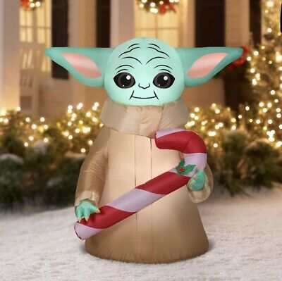 Star Wars 5` The Child with Candy Cane Christmas Inflatable by Gemmy Industries