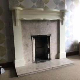 Fireplace and hearthstone for gas fire