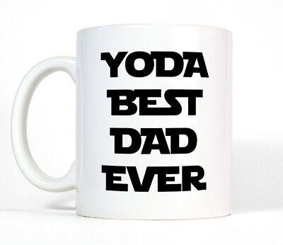 Yoda Best Dad Ever Funny Coffee Mug Star Wars inspired Cup Father Birthday