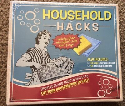 NEW & SEALED * Household Hacks Box Kit * Instruction Book & Cleaning Checklist *