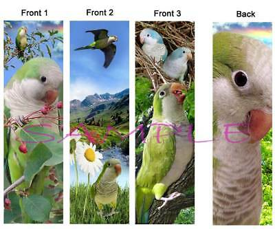 3 set-Quaker Parakeet Parrot BOOKMARK Parakeet Pet Bird Book Card Art Ornament