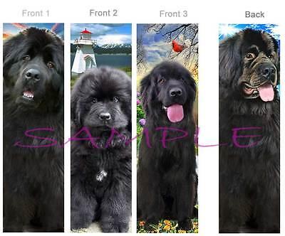 3 Lot-NEWFOUNDLAND BOOKMARK Black Dog ART Pup book mark CARD figurine Ornament