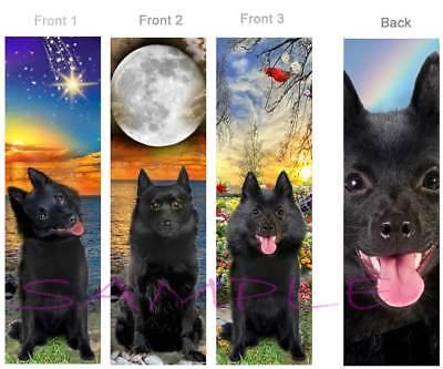3 SET-SCHIPPERKE BOOKMARK Schipperkes Black Dog Art Card Belgian Breed Spitz Pup
