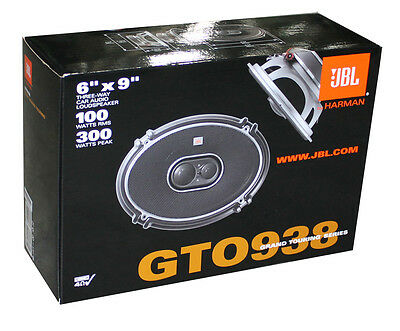 "2) New JBL GTO938 6x9"" 300W 3 Way Car Coaxial Audio Speakers Stereo GTO PAIR on Rummage"