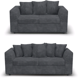 📣BRAND NEW😎 JUMBO CORD Corner Sofa And 3+2 Seater or Corner Su