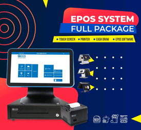 ALL IN ONE EPOS POS TILL SYSTEM (Metal Base & Water Resistant)