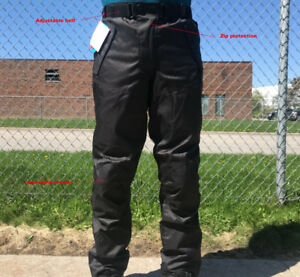Black Ash Motorcycle Riding armoured pants cordura textile