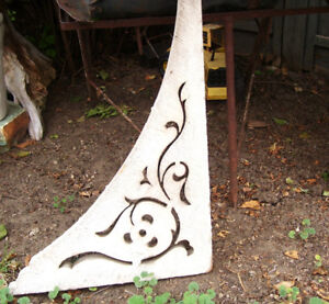 Antique Architectural Pine Porch Bracket from Ontario